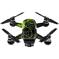 Skin For DJI Spark Mini Drone – Green Distortion | MightySkins Protective, Durable, and Unique Vinyl Decal wrap cover | Easy To Apply, Remove, and Change Styles | Made in the USA
