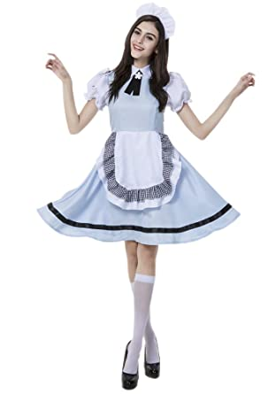 XFentech Vestido de Dirndl para Mujeres, Vestidos Criada ...