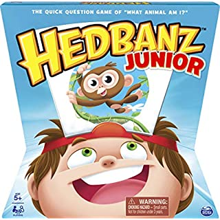 Spin Master Games HedBanz Jr. Family Board Game for Kids Age 5 And Up, Multicolor (6040499)