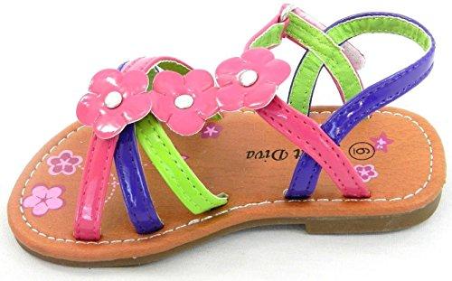 Enfant En Bas Âge T-strap Sandale Mignonne Printemps Été Pour Les Enfants Multi Couleur Sangle Boucle Sandales Chaussures Violet-1