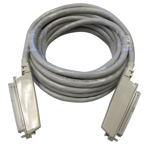 Allen Tel 25-3-PC-10-GY 25 Pair Telco Cable Assembly-One Female Connector/One Male Plug, 10 Foot