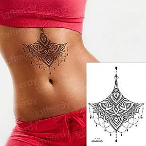 Handaxian 3 Piezas Tatuaje Tatuaje de Pecho Femenino Pegatina ...