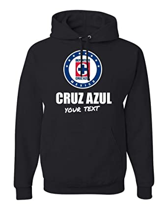 Cruz Azul La Maquina Hooded Hoodie Hoody Sudadera with Custom Text(Optional) (Black