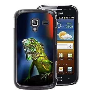 A-type Arte & diseño plástico duro Fundas Cover Cubre Hard Case Cover para Samsung Galaxy Ace 2 (Gecko Chameleon Lizard Tropical Green)