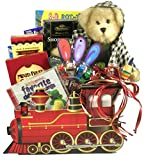 Gift Basket Drop Shipping AlAb All Aboard, Train Basket for Kids