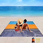 Beach Blanket, Camping Blanket Waterproof Sandproof for 3-7 Adults, Oversized Lightweight Beach Mat, Portable
