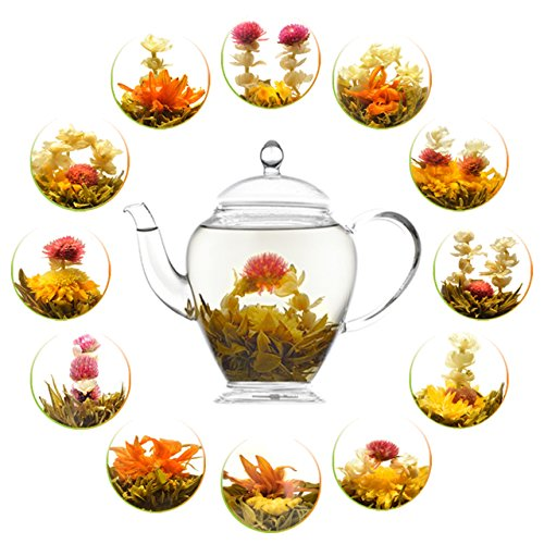 ade Blooming Flower Tea, Assorted Flowering Green Tea Ball (Jasmine Tea Ball)
