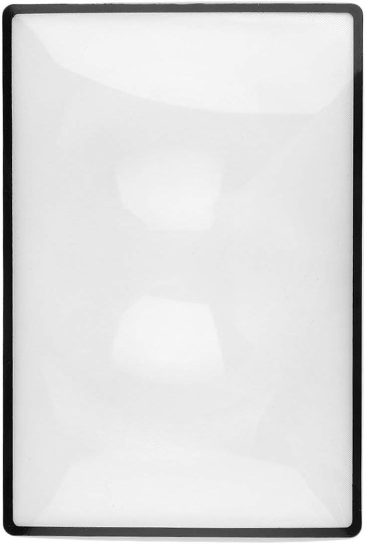 Tree-on-Life 3X Convinient PVC Magnifier Sheet 180X120mm Libro P/ágina Lupa Lupa port/átil Dispositivo de aumento de lectura