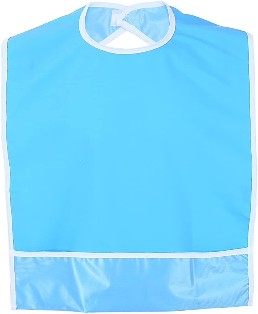 Mealtime Bibs Clothing Protector, Waterproof Adult Bib Elder Disability Aid, 17.72 x 25.59Inch