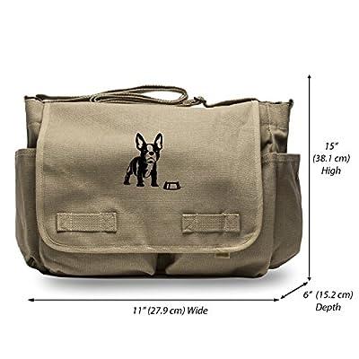 1e47b37a3ec 80%OFF French Bulldog And His Bowl Heavyweight Canvas Messenger Shoulder Bag