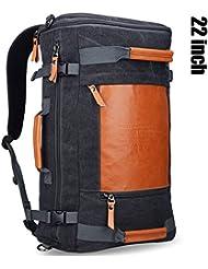 WITZMAN Men Vintage Canvas Rucksack Travel Duffel Backpack Retro Hiking Bag