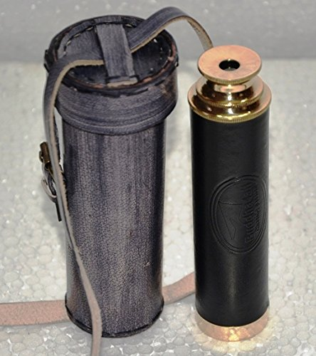 (Handheld Brass Pirate Navigation Telescope with with Leather Case Pouch- by Buddha4all (9
