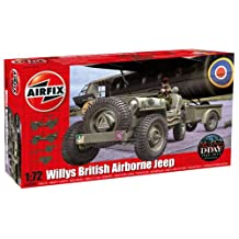 Airfix Plastic Models Kits Plastic Models Kits Willys British Airborne Jeep 1:72 Scale Plastic Model Kit A02339