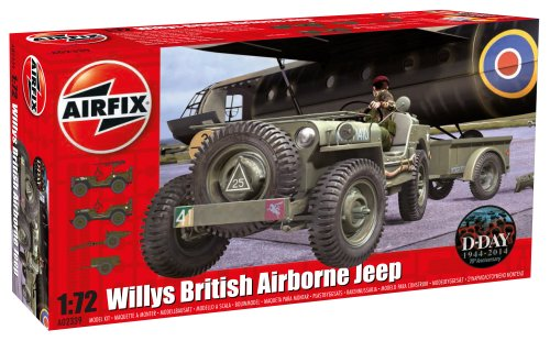 Airfix 1:72 Willys British Airborne Jeep Kit ()