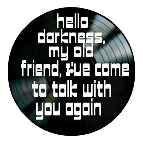 - Sounds of Silence song lyrics by Simon and Garfunkel on a Vinyl Record Wall Decor