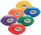 Fun Gripper 8.5 Inch Pee Wee Grip Zone (Solid) Color Footballs ( Set of 6) Assorted Colors