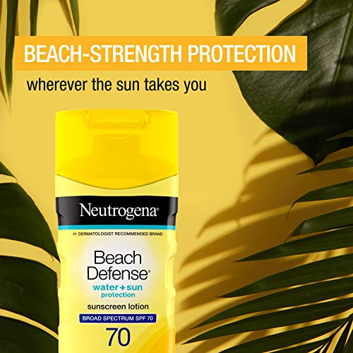 Neutrogena Beach Defense Water Resistant Sunscreen Lotion with Broad Spectrum SPF 70, Oil-Free and PABA-Free Fast…