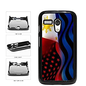 Philippines and USA Mixed Flag Plastic Phone Case Back Cover Moto G