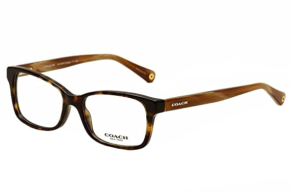 e623e7d662000 Amazon.com  Coach Women s HC6047 Eyeglasses Dark Tortoise Light ...