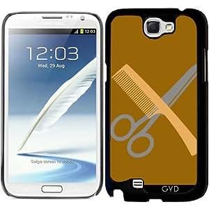 Funda para Samsung Galaxy Note 2 (GT-N7100) - Peine Y Tijeras by hera56