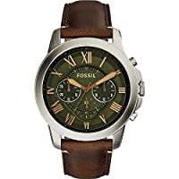 Fossil Grant Chronograph Leather Watch b...