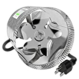 8 fan - VIVOSUN 8 inch Inline Duct Booster Fan 420 CFM, Low Noise & Extra Long 5.5' Grounded Power Cord