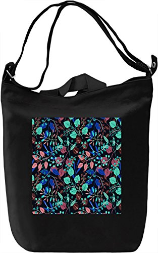 Abstract Flowers Print Borsa Giornaliera Canvas Canvas Day Bag| 100% Premium Cotton Canvas| DTG Printing|