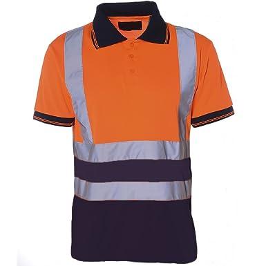 Hi Viz Herren Poloshirt shirt zweifarbig Pro Work Sicherheit High Vis EN471  Sicherheit: Amazon.de: Bekleidung