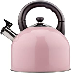 304 Stainless Steel Kettle Household Gas Induction Cooker Universal Large Capacity Automatic Whistle Gas Hot Kettle (Color : Pink)