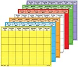 Creative Shapes Etc SE-383 Horizontal Super Calendar Set, 28'' x 22'' Size, Assorted Color (Pack of 7)