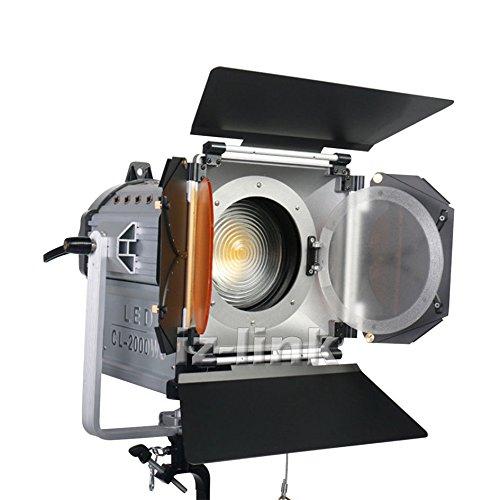 Dimmable 200W LED Studio Fresnel spot Light 3200/5500K for Studio Camera Photo video ()