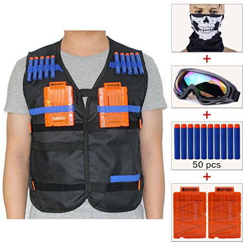cosoro-kids-tactical-vest-jacket-sets-comes-with-skull-face-mask-windproof-protective-goggles-50pcs-