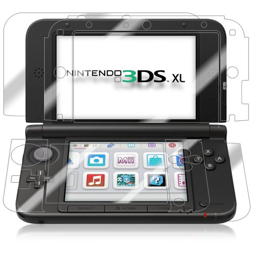 Nintendo 3DS XL Screen Protector + Full Body, Skinomi TechSkin Full Coverage Skin + Screen Protector for Nintendo 3DS XL Front & Back Clear HD Film