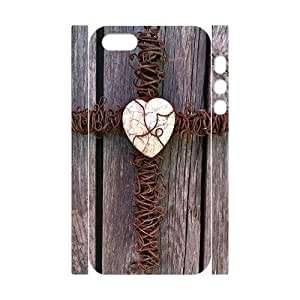 3D Bumper Plastic Customized Case Of Cross for iPhone 5,5S