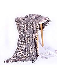 Women's Fashion Long Shawl Big Grid Winter Warm Lattice Large Scarf Camel