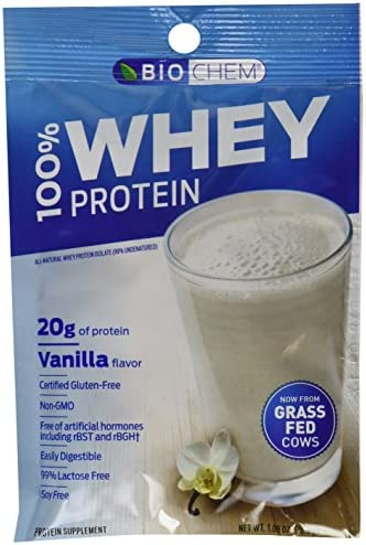 Biochem 100 Whey Protein Vanilla Single Serving Packs 30.6 Grams, 10-Count