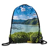 Yifui Lake Forest Drawstring Bag For Traveling Or Shopping Casual Daypacks School Bags