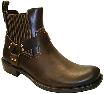 GBX Men's Harness Work Boots,Brown,9.5 M