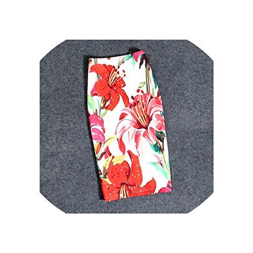 Glass Perilla-Dress Fashion Women Skirts Print Pencil Summer Skirt Plus Size Femme Stretchy Skirts,08,7XL
