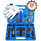 Orion Motor Tech 24-Piece Disc Brake Caliper Tool Kit, Front and Rear Brake Piston Compression Tool, Professional Automotive Mechanic Tool Set