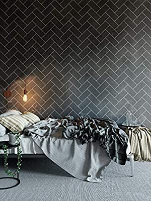Amazon.com: Herringbone Brick Wall Stencils for Painting ... on paint for master bedroom ideas, paint for white kitchen cabinets, paint for painting kitchen cabinets, paint for living room decorating ideas, paint for kitchen appliances, paint for walls ideas, paint for kitchen decorating ideas, paint for kitchen cabinets ideas, paint for kitchen sinks, paint for small kitchen,