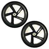 2PCS 200mm Adult Scooter Wheels with Abec 9 Bearings for Razor and Adult Kick Scooters