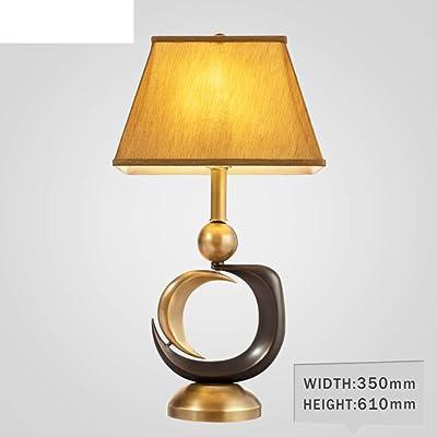 Bedside Lamp for Bedroom,Vintage Table Lamp Study Desk Lamp-A
