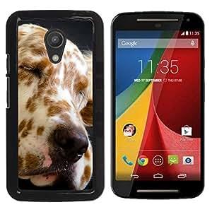 YiPhone /// Prima de resorte delgada de la cubierta del caso de Shell Armor - Great Dane Spots Dog Canine Pet - Motorola MOTO G 2ND GEN II