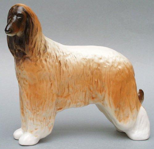 Lomonosov Porcelain Afghan Hound Dog Red Large