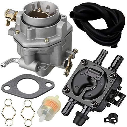 146-0496 Carburetor with 149-1982 Fuel Pump for ONAN P220G B48G B48M Engine Replace 146-0414 146-0479 149-2187 149-1544 by TOPEMAI
