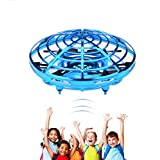 whimsyyy Flying Ball Toy Hand Control Drone Whirley Ball 360°Whirly Flying Ball Mini UFO Ball RC Flying Ball Toy Infrared Induction Drone with Lights Flying Toys for Kids(Blue)