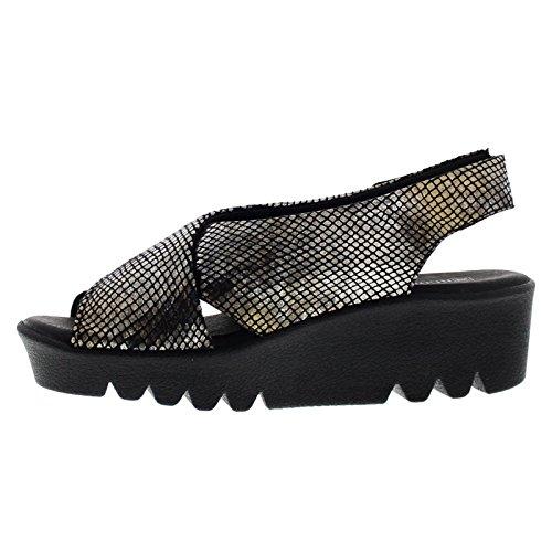 Arcopedico Womens Shelly Textile Sandals Black
