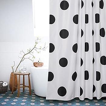Amazon.com: mDesign Polka-Dot Shower Curtain, 72 x 72-Inches, Multi ...