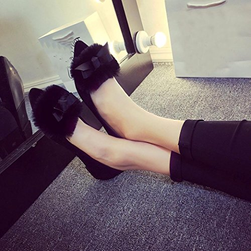 On Shoes Flcok TM Ladies DEESEE Flats Black Loafers Slip Platform Lady Womens a8WqfZWvF